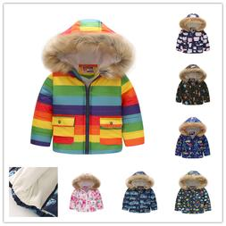 Toddler Baby Boys Girls Winter Warm Coat Outerwear Boy Hoode