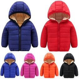 Toddler Kids Baby Boys Jacket Winter Warm Clothes Outwear Ho