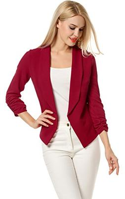 Turn Down Collar Wear to Work Outwear Jacket Blazer