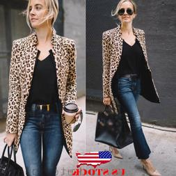 us leopard jacket women sweater top warm