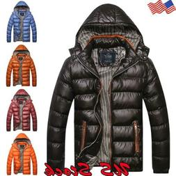 us men s winter warm hooded thick