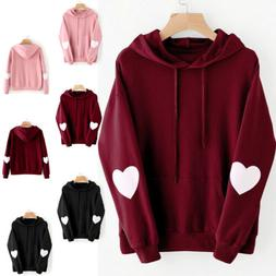 US New Women Winter Hoodies Casual Sweatshirt Baggy Hooded J