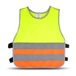High Visibility Childrens Safety Waistcoat Vest Jackets  - P