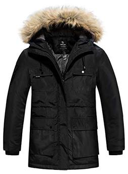 Wantdo Men's Warm Winter Coat Parka Thicken Insulated Puffer