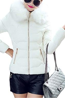 YMING Warm Winter Down Coat for Women Puffer Parka Outwear J