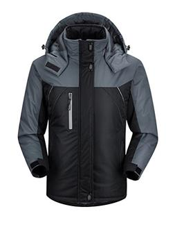 Men's Waterproof Outdoor Coat Fleece Windproof Ski Jacket At
