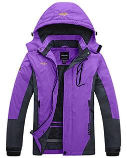 Wantdo Women's Mountain Waterproof Fleece Ski Jacket Windpro