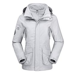 CAMEL CROWN Womens Waterproof Ski Jacket 3-in-1 Windbreaker