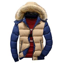 Susanny Men's Winter Casual Outwear Fur Hooded Qulited Cotto