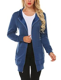 Zeagoo Winter Casual Zip up Coat Hoodie Cardigan Outwear Jac