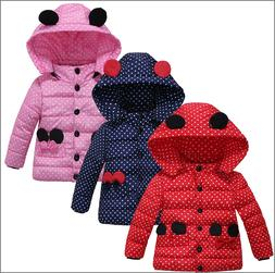Winter Coat Baby Girls Jacket Kids Winter Warm Outerwear Chi