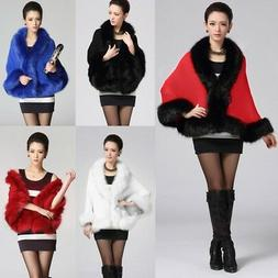 Winter Faux Fur Coat Women Ponchos And Capes Fur Top Wedding