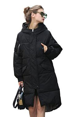 Winter Jacket Coat Women Anorak Long Black Puffer Down Coat