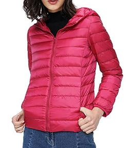 HENGJIA Women's Winter Lightweight Packable Jacket Hood Down