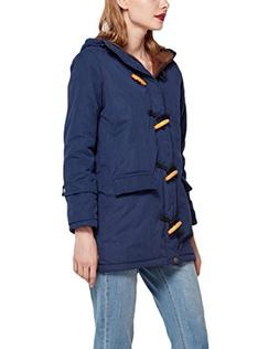 Women's Winter Parka Horn Button Coat Mid-Long Hoodie Jacket