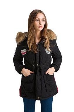 mewow Womens Winter Thick Warm Parka Jacket Fleeces Lined Co