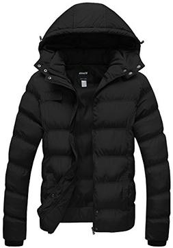 Wantdo Men's Winter Thicken Cotton Coat Puffer Jacket with R