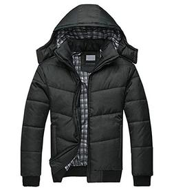 Mintsnow Men's Winter Thicken Cotton Coat With Removable Hoo