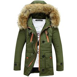 Susanny Men's Winter Thicken Cotton Jacket With Fur Hood Dow
