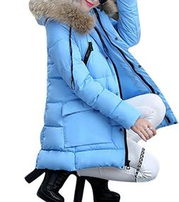 Enlishop Womens Winter Thicken Faux Fur Hooded Down Quilted