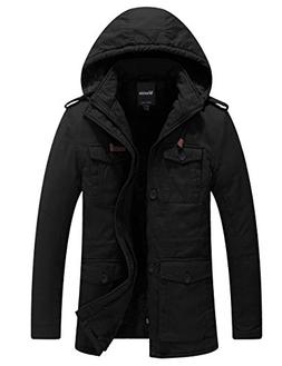 Wantdo Men's Winter Outdooor Outwear Coat With Removable Hoo