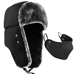 mysuntown Winter Trapper Warm Hat with Windproof Mask 2 Piec