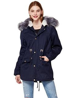 Women's Winter Trench Coat Mid-Long Large Fur Hoodie Jacket