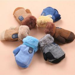 Winter Warm Cute Knit Mittens Thicken Gloves for Toddler Inf