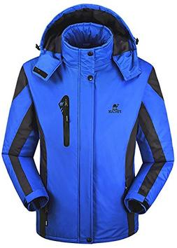 Men's Winter Warm Fleece Lined Ski Coats Outdoor Hooded Wate