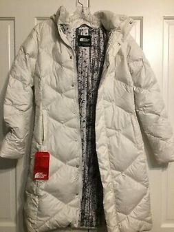 The North Face Winter White Long Puffer Metro Parker Jacket