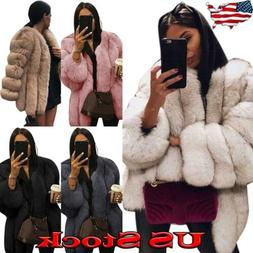 Winter Women Fluffy Jacket Outerwear Parka Coat Overcoat Top