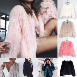 Winter Womens Coat Faux Fur Jacket Parka Outwear Overcoat Ou