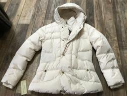 woman s off white down puffer jacket