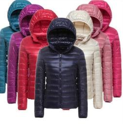 Women Duck Goose Down Ultralight Winter Jacket  Warm Puffer