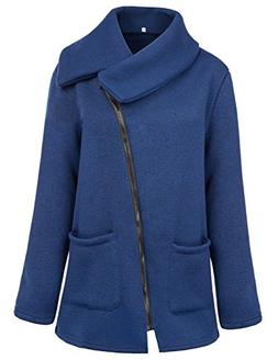 Grace Karin Women Full Side Zip up Winter Coat with Pockets