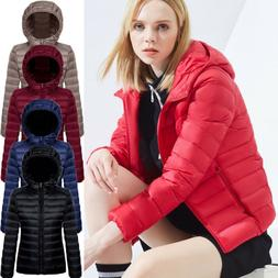 Women Hooded Packable Down Parka Jacket Ultralight Puffer Co