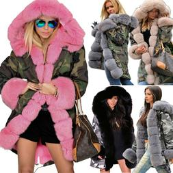 women ladies winter warm coat hooded pink