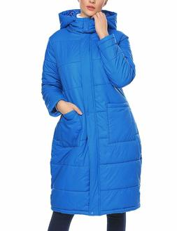 Zeagoo Women Long Thickened Down Hooded Jacket Winter Warm P