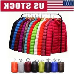 women packable down jacket ultralight stand collar