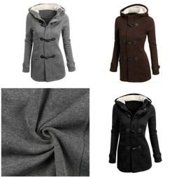 Women Parka Hooded Trench Coat Jacket Outwear Winter Warm Lo
