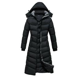 Women's Hooded Winter Warm Full Length Padded Quilted Puffer