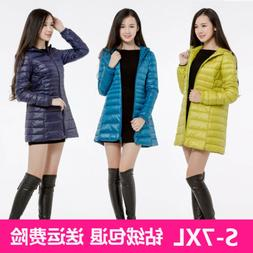 Women's 90% Duck Down Coat Long Jackets Ultralight Packable