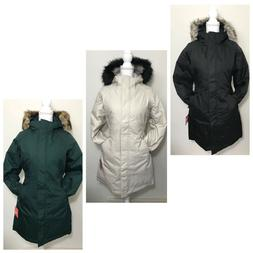 The North Face Women's Arctic Parka Down Coat Black Green Wh