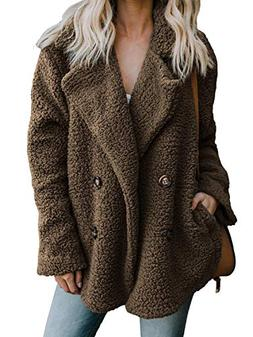 CHOiES record your inspired fashion Women's Brown Faux Shear