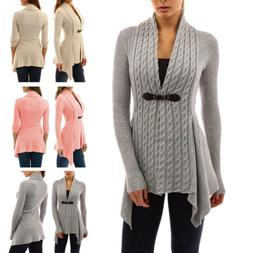 Women's Cardigan Top Fleece Fur Sweater Jumper Jacket Winter