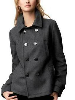 GAP WOMEN'S Classic 78% WOOL PEA COAT winter PEACOAT Gray Pe