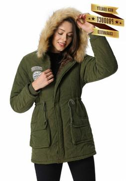 women s coat faux fur lined hood