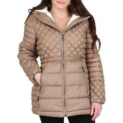 women s faux fur lined quilted winter