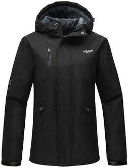 Wantdo Women's Hooded Windproof Ski Jacket Fleece Rain Jacke