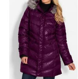 Women's Outerwear winter Down fur hooded parka down coat jac